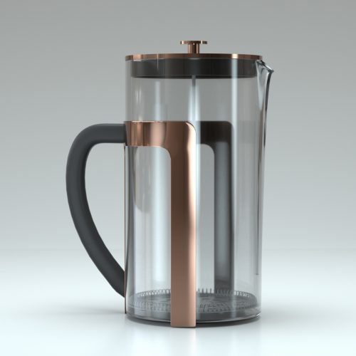 French Press Hard Surface Model
